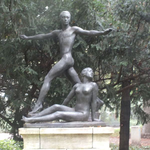 Heinrich-Heine-Denkmal, Bereich Tanusanlage