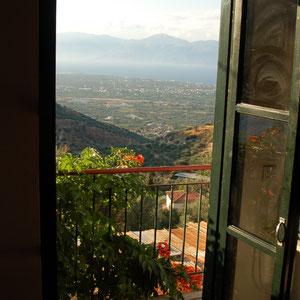 Blick vom kleinen  Balkon