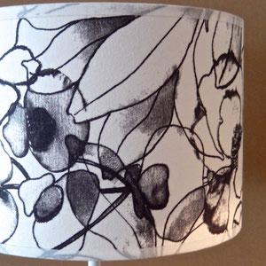 Abat-jour imprimé noir & blanc