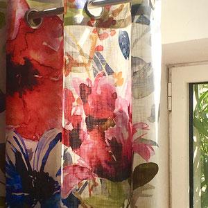 Rideau contemporain fleurs design XXL