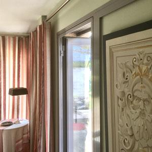 lin rayé, rideaux sur-mesure
