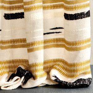 voile de lin , chenille grande largeur