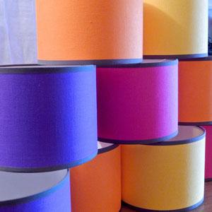 Abat-jour lin multicolor