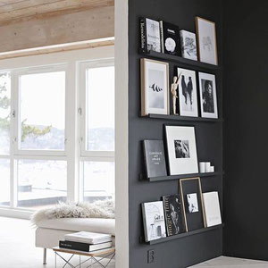 Black Walls For Art - PASiNGA Blog, image via stylizimoblog