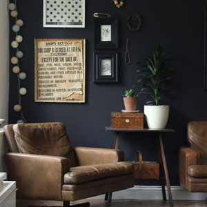 Black Walls For Art - PASiNGA Blog, image via growingspaces