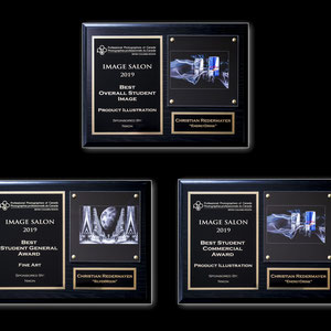 """At the Annual Awards Banquet of the Professional Photographers of Canada - British Columbia   - the Best Student Commercial award  - the Best Student General award  - the Best Overall Student Image for his image entitled """"Energy Drink""""."""