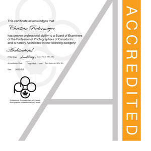 May 2020: Achieved the PPOC Accreditation in Architectural Photography