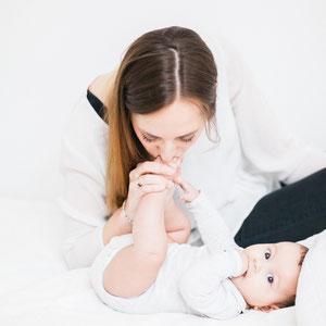 shooting d'une maman avec son bébé