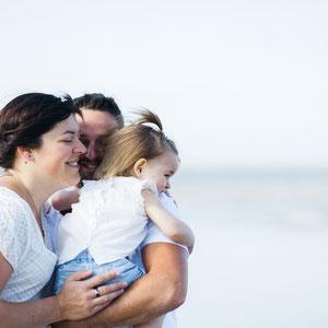Photo famille à la plage, reportage famille