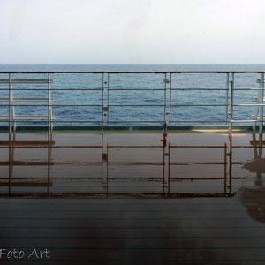 nasses Promenaden Deck