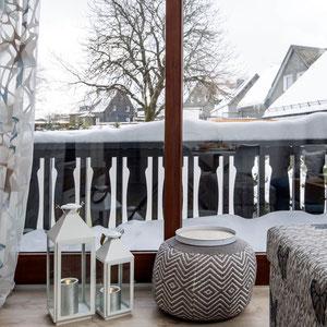 Balkon Ferienwohnung Astenperle in Winterberg