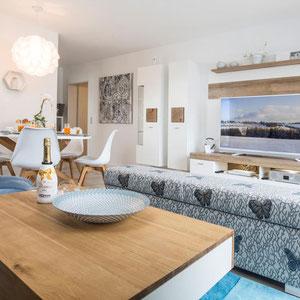 Wohnzimmer - Ferienwohnung Winterberg