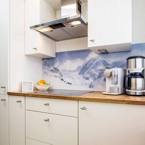 Separate Küche mit Spülmaschine - Ferienwohnung Winterberg