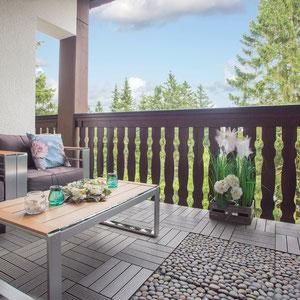 Balkon 1 mit Lounge