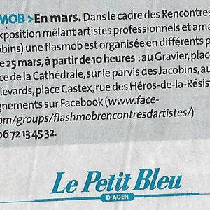 """Le petit bleu"""" : 21 janvier 2017"""