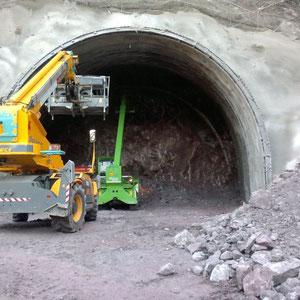 Geologische Assistenz Tunnelbau, u.a. Ortsbrustaufnahmen