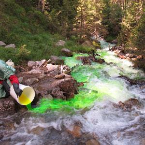 Hydrogeologische Studien, u.a. Tracerversuche