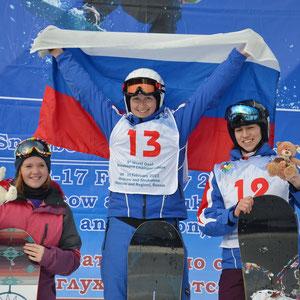 На 1 месте С.Анисимова, на 3 месте (справа) М.Капусткина