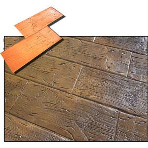 imitación tablon vasco en madera para hormigon