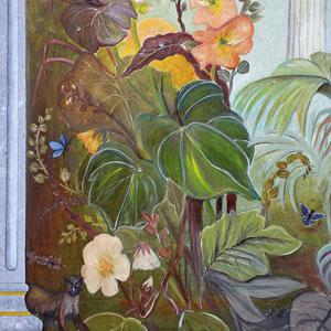 Trompe-l'œil - Composition florale et colonnes antiques (détail) - Copyright Pascale Richert