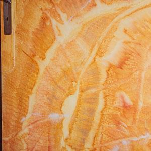 Porte en bois - Imitation onyx d'Algérie - Copyright Pascale Richert