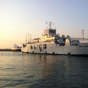Die Fähre von Zadar nach Dugi Otok