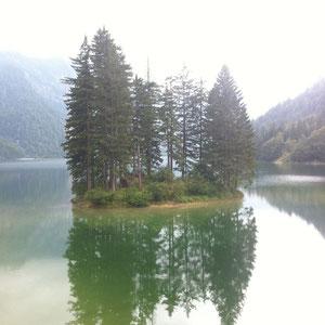 Slowenische Seite des Predil-Passes