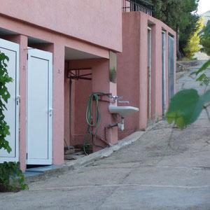 Mein Lieblings-Waschplatz direkt auf der Durchgangsstraße!