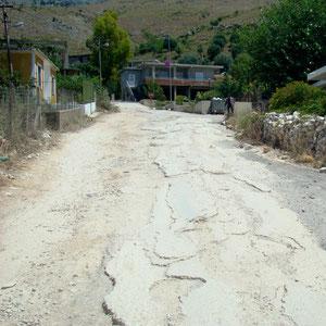 Durchschnittlicher Straßenzustand auf Nebenstrecken
