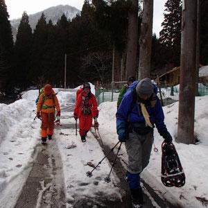 約7時間の雪山歩きでした