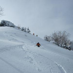 山頂直下の滑り:M宅