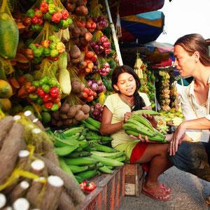Markt in Amacayacu (Amazonas-Gebiet)