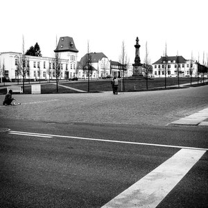 """""""Straßenmaler"""" in Puttbus"""