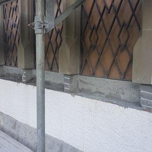 Amthaus Saanen, Rorschacher Sandstein, Restaurierung, Renovierung, André Iseli Steinmetz