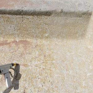 Brunnensanierung, Sandstrahlen, André Iseli Stein- u. Bildhauerwerkstatt, Wimmis