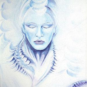 Luft; 2001; 50 x 40 cm; Acryl auf Leinwand