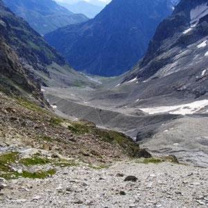 Ecrins : moraine et Valfourche - AU BOUT DES PIEDS