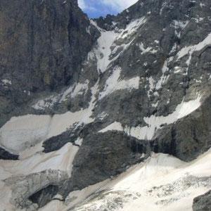 Ecrins : glacier du Clot des Cavales - AU BOUT DES PIEDS