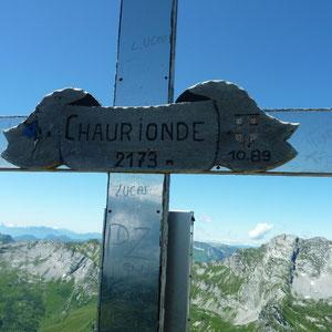 Chaurionde (Bauges, 73) : sommet - AU BOUT DES PIEDS