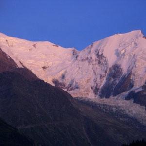 UTMB 2008 : glacier de Bionnassay - AU BOUT DES PIEDS