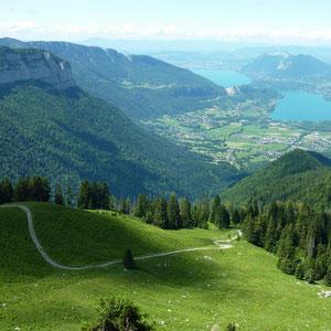 Lac d'Annecy, de la pointe du Vélan - AU BOUT DES PIEDS