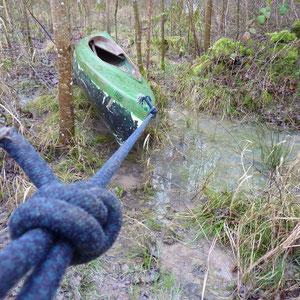 """à pied dans le bois ; le Morin se perdait dans un """"bayou"""" inextricable - AU BOUT DES PIEDS"""