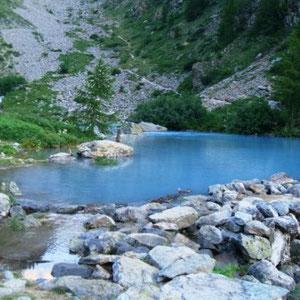 Ecrins : lac de la Douche - AU BOUT DES PIEDS