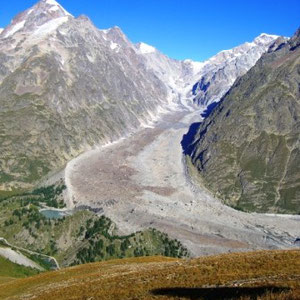 UTMB 2008 : glacier du Miage - AU BOUT DES PIEDS