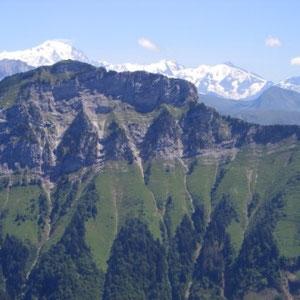 L'Aulp Riant dessus : Mont Blanc - AU BOUT DES PIEDS