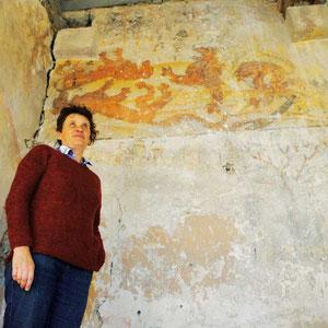 Article de presse sur le chantier de sauvegarde des vieilles peintures du chateau de montferrand à Lagnieu (Ain)