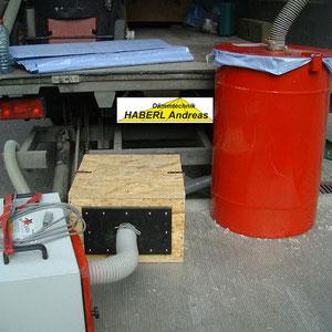 Saugschlauch, Saugfaß, Vorfilterbox, Absaugstation