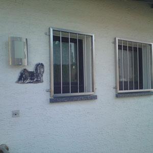 Gradlinige Edelstahl Fenstergitter