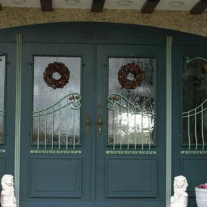 Farbiges Dekor Türfenstergitter
