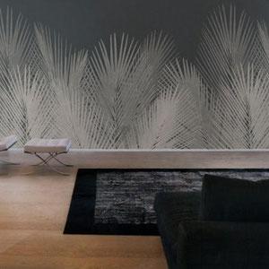 Фото панно в интерьере Артикул: Palm Состав: Тревира на флизелиновой основе Ширина: 400 см Длина: 280 см